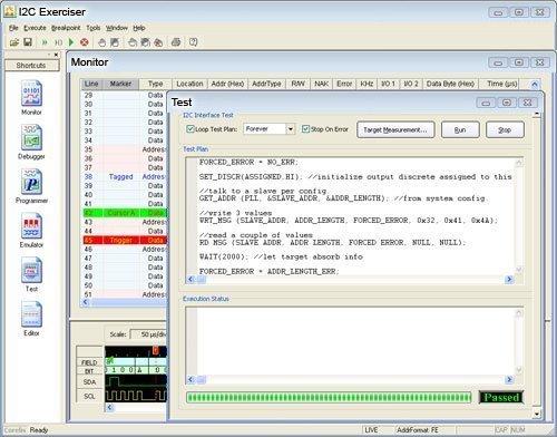 CAS 1000 Test Script1 - CAS-1000-I2C/E Bus Analyzer