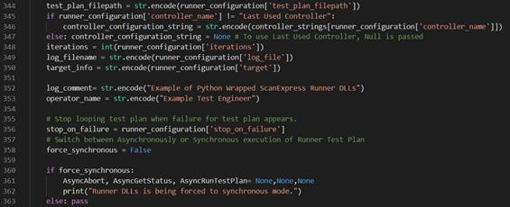 Excerpt from ScanExpress Runner Python Script - ScanExpress 9.7 Release Notes